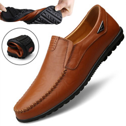 Genuine Leather Men Casual Shoes Luxury Brand 2020 Mens Loafers Moccasins Breath