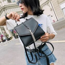 Small Fashion Leather Backpacks For Teenage Girls Shoulder School Backpack Bags $35.33