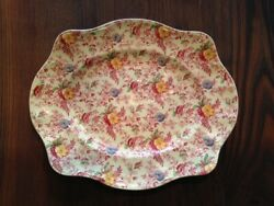 Johnson Brothers Old English Chintz Pink Multicolor Platter 13.5 X 11.25