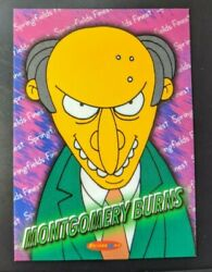 The Simpsons Downunder Trading Card - Sf 2 Montgomery Burns - Rare Card 1/1750