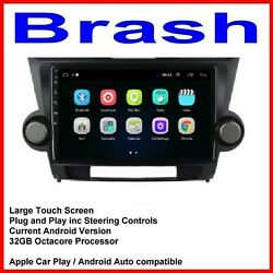 For Toyota Kluger 2007-13 Gps Sat Bluetooth Apple Carplay Android Auto Camera