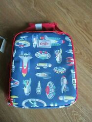 Cath Kidston London Cath Kids Spaceship Rockets Lunch Box Coated Cotton And Strap