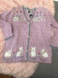 Very cute Storybrook Easter Sweater Brand New size L