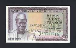 Guinea 100 Francs 1-3-1960 P12s Specimen Perforated Uncirculated
