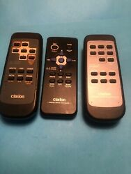 Clarion Car Stereo Remotes Lot Of 3
