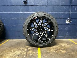 22x12 Vision Spyder 33 Mt Wheels Rims Tires Package 6x5.5 Chevy Suburban Tahoe