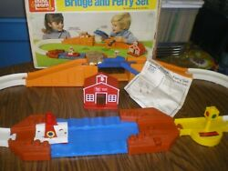 ☆ Vintage Ideal Toy Kiddy Mo Bridge And Ferry Set 1974 Box Manual Track Bus Boat ☆