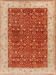 Antique Style Rust Oushak Egyptian Hand-knotted Area Rug Oriental Carpet 8x11