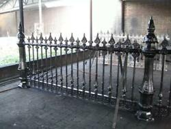 The Best Cast Iron Estate Victorian Heavy Incredible Fence With Posts - Cmb1