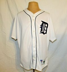 Vintage Mlb Detroit Tigers Jersey 1990s Russell Diamond Collection Tag Size 52