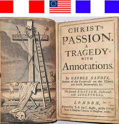 1687 Theatrical Plays The Passion Of Christ And Joseph George Sandys Antique Bible