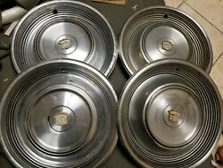 1968-1969 Cadillac Fleetwood Deville 15 Wheel Covers Hubcaps Set Of 4