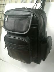 BACK PACK GENUINE SOFT LEATHER MEDIUM SIZE LOTS OF ZIP COMPARTMENTS VERY ROOMY $19.75