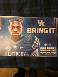 university Of Kentucky 2019 Signed Football Poster/ Schedule