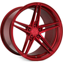 """20"""" Rohana Rfx15 Gloss Red Concave Wheels Rim For Bentley Continental Gt"""