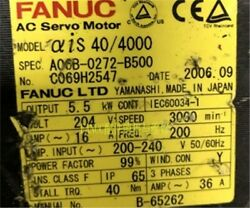Used 1pc Fanuc A06b-0272-b500 Tested Cp