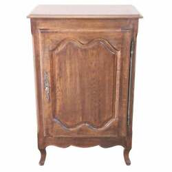 20th Century French Louis Xiv Style Oakwood Small Sideboard Buffet Or Credenza