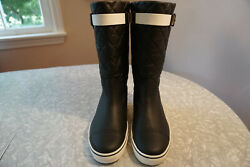 Cc Logo Quilted Boots. No Others On Ebay High Grade Free Shipping