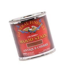 General Finishes Oil Based Penetrating Wood Stain, 1/2 Pint, Antique Cherry