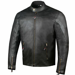Menand039s Airflow Perforated Leather Protected Motorcycle Ce Armor Biker Jacket