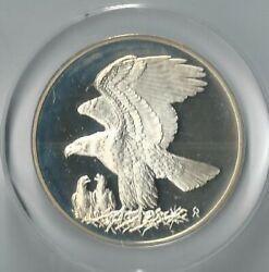 1971 Bald Eagle Sterling Silver Proof Gilroy Roberts Medal