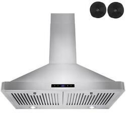 Akdy Wall Mount Range Hood 120-volt Stainless Steel Removable Grease Filter
