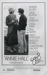 WOODY ALLEN SIGNED ANNIE HALL 11X17 MOVIE POSTER PSA COA X68094