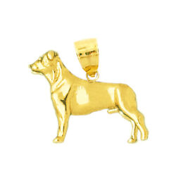 New Real Solid 14K Gold 3D Boston Terrier Charm Pendant