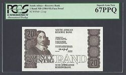South Africa 20 Rand Nd 1984-93 P121ap Proof Uncirculated