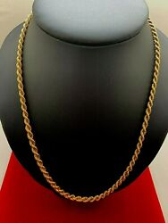 14 Karat Solid Rose Gold Rope Chain