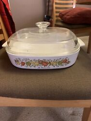 Vintage Corning Ware Spice Of Life A-10-b Le Romarin 10 X 10 X 2 In See Stamp