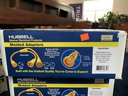 Hubbell Y Adapter 1 Male 30a To 2 Female 30a 125 Volt Marine Shore Cord