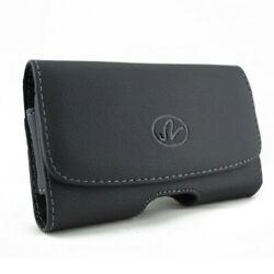 Case Belt Clip Leather Holster Cover Loops Pouch Carry For Cell Phones