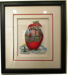 """Charles Fazzino """"apple-tizingly New York"""" 3d Art Signed And Numbered 247/300"""