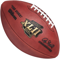 Super Bowl Xlii 42 Authentic Wilson Nfl Game Football - Official Game Ball