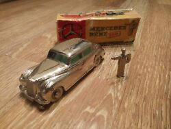 Vintage Mercedes Benz 300 Car W/ Box And Wind Up Key