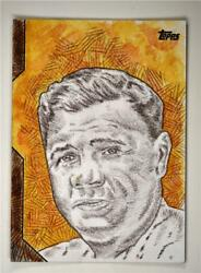 2020 Topps Series 1 Sketch Card Auto Babe Ruth 1/1