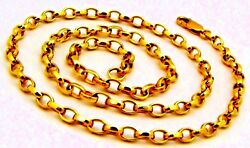 Authentic 22 K Gold Belcher Link Chain Best Women's Jewelry For Mothers Day