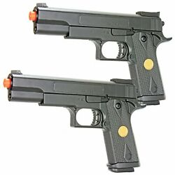 Airsoft Spring Pistol High Impact Plastic Construction Powerful 300 Fps 2 Pack