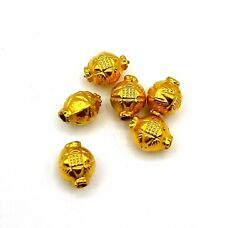 Solid 22k Gold Antique Engraved 5 Mm Balls Loose Beads Seeds Jewelry Findings