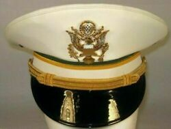 Replica Us Army Military Police Officer Service Dress White Hat Cap High Quality