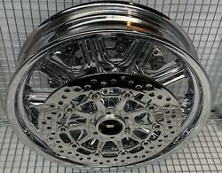 Indian Chieftain Chrome Front Wheel And Rotors 2014 -19 Mag Rim Exchange