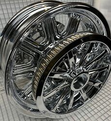 Indian Chieftain Chrome Rear Wheel Pulley And Rotor 2014 -20 Mag Rim Exchange