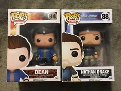 Funko Pop Dean Winchester 94 Supernatural And Nathan Drake 88 Uncharted