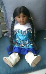 Vintage 1980 Native American Girl Doll Girl Indian - Very Rare
