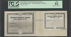 Great Britain- Monsanto Chemicals Preference Stock 1947 Photographic Proof Unc