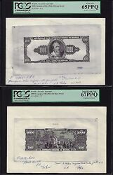 Brazil Face And Back 1000 Cruzeiros Nd1961-63 P173 Essay Proof Uncirculated