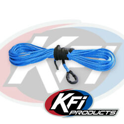 Kfi 1/4 X 50' Blue Synthetic Utv Winch Rope For Wide 4000-5000lb Winches