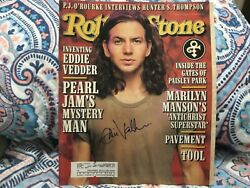 Eddie Vedder Pearl Jam Signed 1996 Rolling Stone Magazine Signed In Person