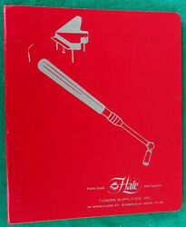 1969 Hale Tuners Supply Co Binder Vintage Piano Tuning Tools Parts And Accessories